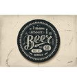Coaster for beer with hand drawn lettering vector image