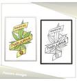 Medical marijuana poster eight vector image