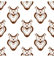 Cartoon owlet seamless pattern vector image