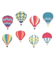 Set of colored hot air balloons vector image vector image