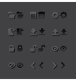 Grey web app graphic editor tools icons in 2 vector image