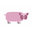 Fat pig on a white background Farm animal vector image