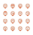 Set of emoji lightbulb emoticons vector image