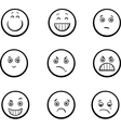 cartoon emoticons set vector image