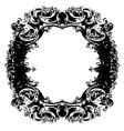 baroque mirror vector image