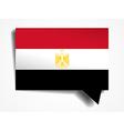 Egypt - paper 3d realistic speech bubble vector image