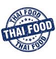 thai food blue grunge round vintage rubber stamp vector image
