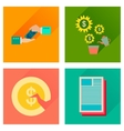 Concept of flat icons with long shadow business vector image