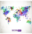 Abstract triangle world map with explosion vector image