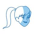 cartoon girl face sport design graphic vector image