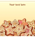 Christmas chocolate honey-cakes background vector image