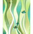 fishes and algae vector image