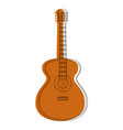 Guitar instrument icon vector image