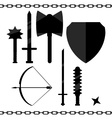 Historical weapons vector image