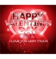 Modern Valentines day letter greeting background vector image