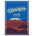 mount kilimanjaro in africa tanzania outdoor vector image