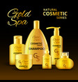 luxury cosmetic products design vector image