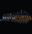 la plage royal islander rental st maarten text vector image vector image