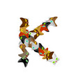 letter k cat font pet alphabet symbol home animal vector image