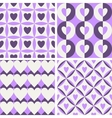 Seamless vintage pattern with hearts vector image vector image
