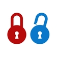 Lock unlock icon vector image vector image