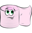 Toilet Paper Smiling vector image vector image