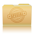 Folder with Special damaged stamp vector image vector image