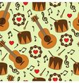 seamless background with musical instruments vector image