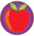 apple graphic vector image vector image