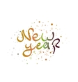New year lettering word vector image