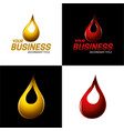 automotive and industrial lubricants icon and logo vector image