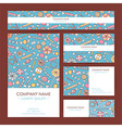 Business Set Template with Hand Drawn Sweets vector image