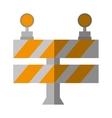 cartoon road barrier stop warning light vector image