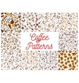 Coffee seamless pattern backgrounds vector image