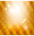 Golden triangle background with stars vector image
