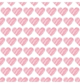 Romantic seamless pattern with hearts Beautiful vector image