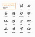 seafood concept - line design icons set vector image