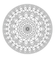 Tribal folk Aztec geometric pattern in circle vector image