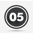 Fifth step sign Loading process symbol vector image