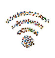 people wifi sign people wifi network vector image