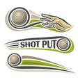 shot put vector image