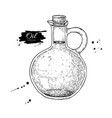 oil bottle drawing glass pitcher with cork vector image