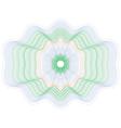 colored rosette guilloche pattern vector image