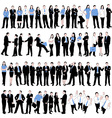 60 business people silhouettes vector image