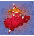 dancing girl with a mask vector image