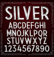 Silver Embossed Font vector image
