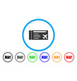 airticket rounded icon vector image