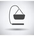 Baby hanged cradle icon vector image
