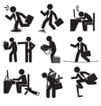 Business Man Risk Icon Set vector image