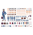 businessman character constructor male clerk vector image